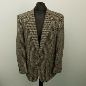 Blazer Jacket HARRIS TWEED Peek & Cloppenburg Mens UK 40 EU 50 MEDIUM Grey Wool
