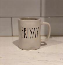 Rae Dunn FRIYAY Coffee Mug LL Artisan Collection Magenta Original