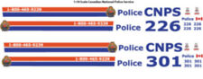 1:18 DECALS CNPS CANADIAN NATIONAL RAILWAY POLICE MOTORMAX FORD CROWN VICTORIA