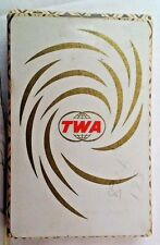 TWA White Swirl  Single Deck US Playing Card CO   complete