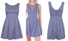 Nuevo vestido para mujer sin mangas Verano Informal Azul Marino Reino Unido