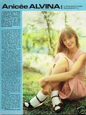 Coupure de Presse Clipping 1976 (1 page) Anicée Alvina