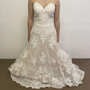 Morilee Madeline Gardner Wedding Dress UK Size 14 Ivory Creme Kimberly (#H1/08)