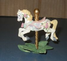 "Vintage Willits 1990 Porcelain Carousel Horse 2 1/4"" Tall"