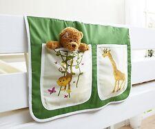 Pochette de rangement pour lit à étage et lit mezzanine Vert-Orange