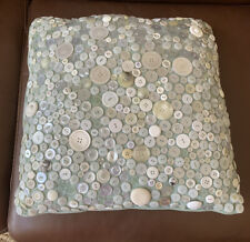 DECORATIVE PILLOW COVERED IN VINTAGE BUTTONS