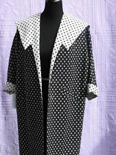 "Women's Vintage Linen Coat M Black & White Checks ""Flair of California"" Excell"