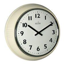 Orologi da parete bianchi rotondi in metallo