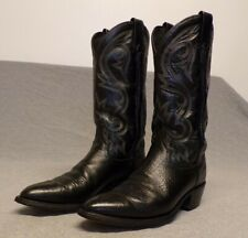 Vintage Dan Post Western Cowboy Leather Riding Casual work boots men's 8D Usa