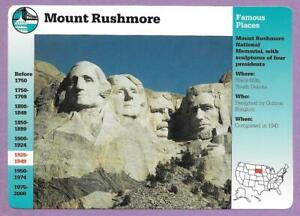 Mount Rushmore Grolier Card #3-4