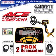 Détecteur de métaux Garrett Ace 250 + Casque audio Pro + Protège disque + Piles
