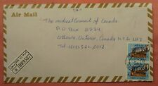 DR WHO 1994 QATAR DOHA REGISTERED AIRMAIL TO CANADA 150748