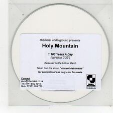 (FU591) Holy Mountain, 100 Years A Day - DJ CD