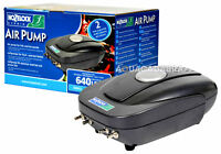 HOZELOCK AIR PUMP A640 FISH POND+ AIRSTONES + AIRLINE WEATHERPROOF OUTDOOR 1805