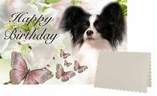 Papillon Dog C5 Birthday Day Card Design BPAP1-1 by paws2print