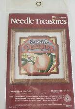 Vintage Needle Treasures Stitchery Kit Farm Fresh Peaches #00707 Rodger Johnson
