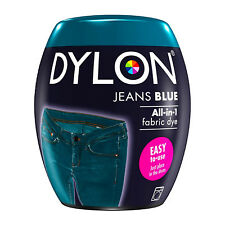 DYLON Textilfarbe Jeans Blau Farbe & Fixierer für 600g Stoff fabric dye blue