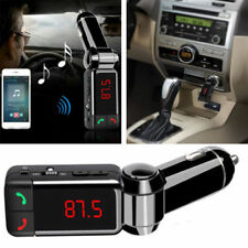 Wireless In-Car Bluetooth FM Transmitter Radio Adapter Car Kit Black MP3 Player
