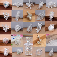 Women Men Fashion 925 Sterling Silver Charm Pendant Chain Necklace Jewelry Gift