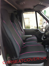 Ford Transit Mk 7 (06-13) HEAVY Duty PINK Trim Van SEAT Covers - Single + Double