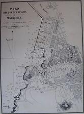 PORTS ET BASSIN DE MARSEILLE ,1862, GAUTTIER, PLANS PORTS RADES MER MEDITERRANEE