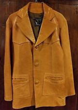Men's Soft Lined Leather Jacket Tan Size 38 Small