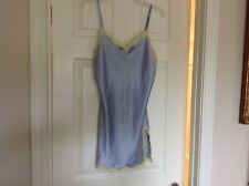 EUC, Victoria's Secret nightie, light blue and yellow lace, size M, adjustable
