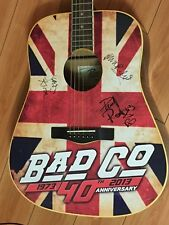 Bad Company 40th Anniversary Rogue Acoustic Guitar signed by Paul Mick and Simon