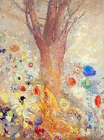 The Buddha by Odilon Redon A2+ High Quality Canvas Print