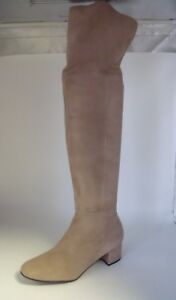 Next Over The Knee Suede Boot's Cream Size UK 5 EU 38 NH091 PP 01