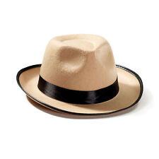 Roaring 20's Gangster Beige Tan Fedora Top Hat Detective Adult Costume Accessory
