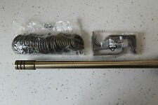 Antique Brass Effect Extendable Curtain Pole with fixings 1.7m - 3m