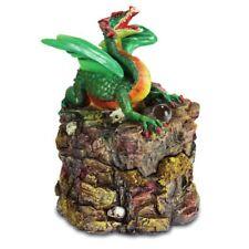 Schmuckdose Drachen auf Felsen 13cm