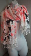 Scarf Zebra Shawl Accessories Women Fashion Scarve Zebras Animals Earthy Coral