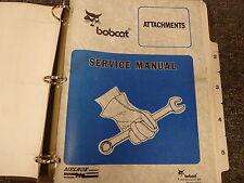 Bobcat Auger Trencher Rake Broom Roller Attachments Shop Service Repair Manual