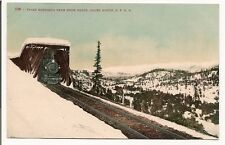 "vintage postcard ""Train Emerging from snow sheds, Ogden Route, S.P.R.R."" Utah"