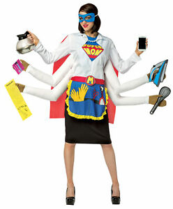 ADULT SUPER MOM MOTHER PARENT 6 HANDED COSTUME GC6149