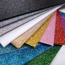 glitter topped acrylic felt x12 sheet pack gold silver pink blue green red white