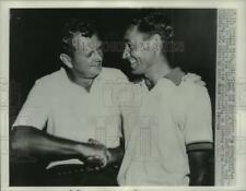 1958 Press Photo PGA finalists Walter Burkemo & Felice Torza, Detroit, Michigan
