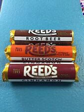 Original Reed's Classic Hard Candies x3 Rolls  - cinnamon/rootbeer/butterscotch