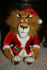 "Merry Madagascar Christmas ALEX Lion Santa Claus Plush Stuffed Animal 15""    D3"