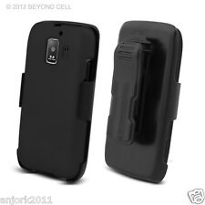 Huawei Fusion 2 AT&T U8665 Hard Case+Holster Combo w/ Swivel Belt Clip Black