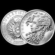 2013 1 OZ SILVER COIN *FREEDOM GIRL SILVER BULLET SILVER SHIELD SBSS .999 SILVER