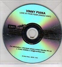 (CI88) Vinny Piana, Love Is Your Fear - DJ CD