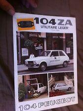 1970s Peugeot 104ZA Color Sales Brochure Prospekt