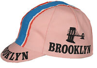 BROOKLYN PINK RETRO CYCLING TEAM CAP - VINTAGE - FIXED (Pink)