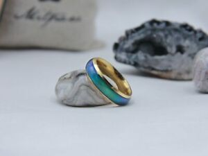 Gold Stainless Steel Mood Ring