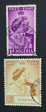 MOMEN: NIGERIA SG #62-63 1948 USED £ LOT #5045