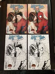 AMAZING SPIDER-MAN RENEW YOUR VOWS #5 QUESADA VARIANT SET LOT OF 4 MARVEL NM