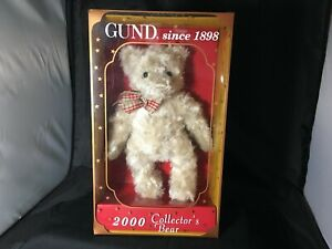 GUND 2000 COLLECTOR'S GUNDY TEDDY BEAR IN ORIGINAL BOX LIMITED EDITION BEAUTY